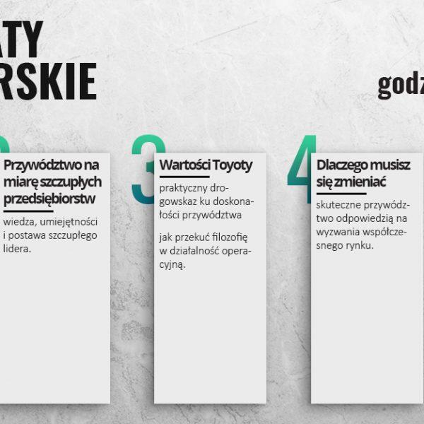 Projekt infografiki Warsztatów Managerskich