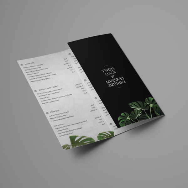 Projekt broszury z ofertą Makago