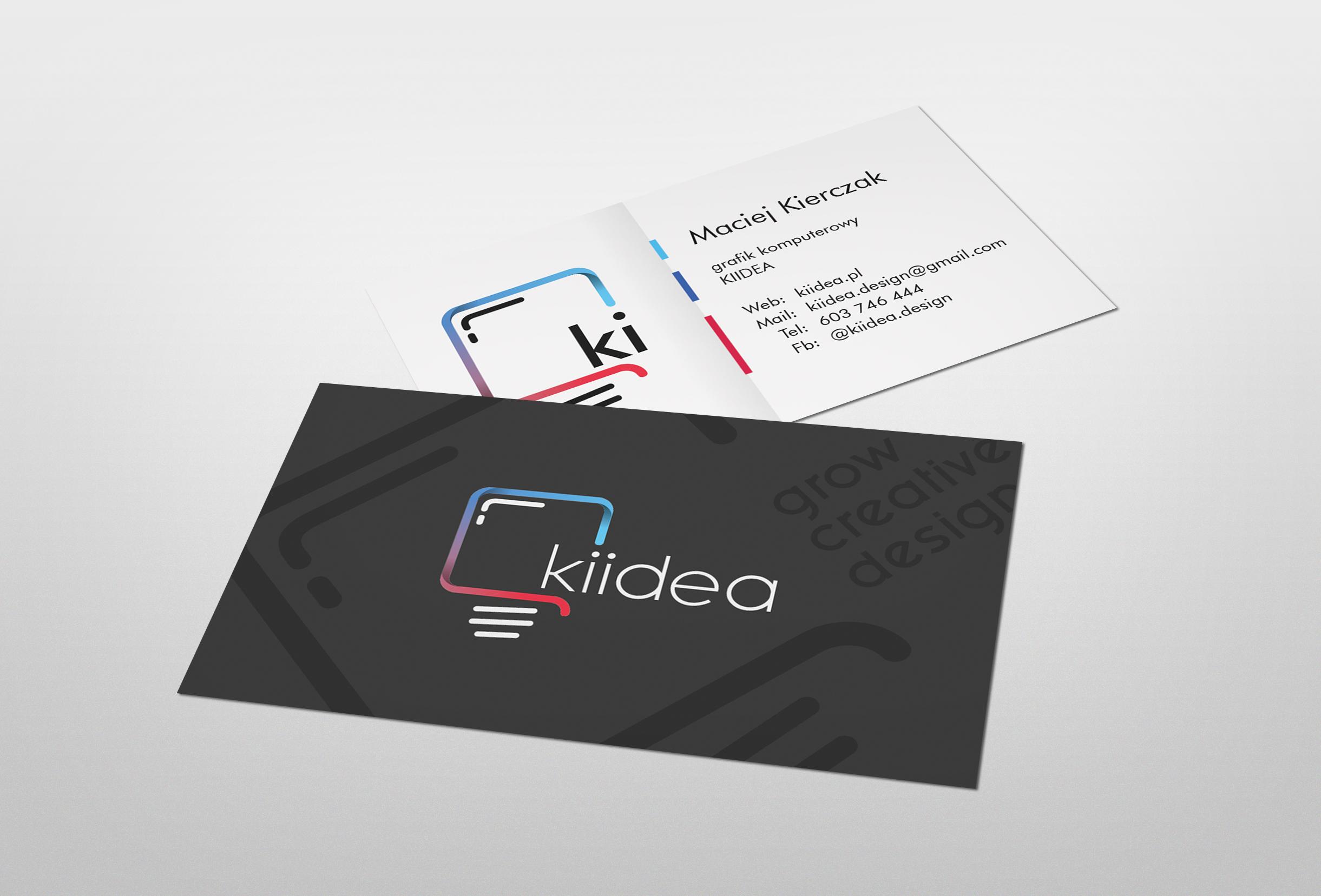 Projekt wizytówki Kiidea