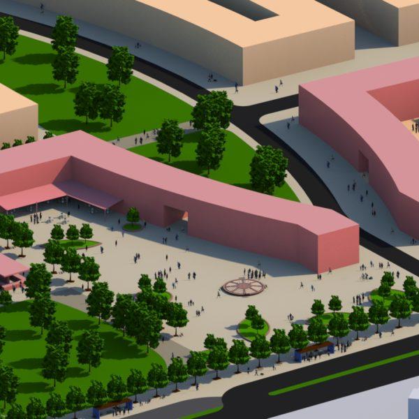 Projekt wizualziacji Lok. Centrum Usługowego