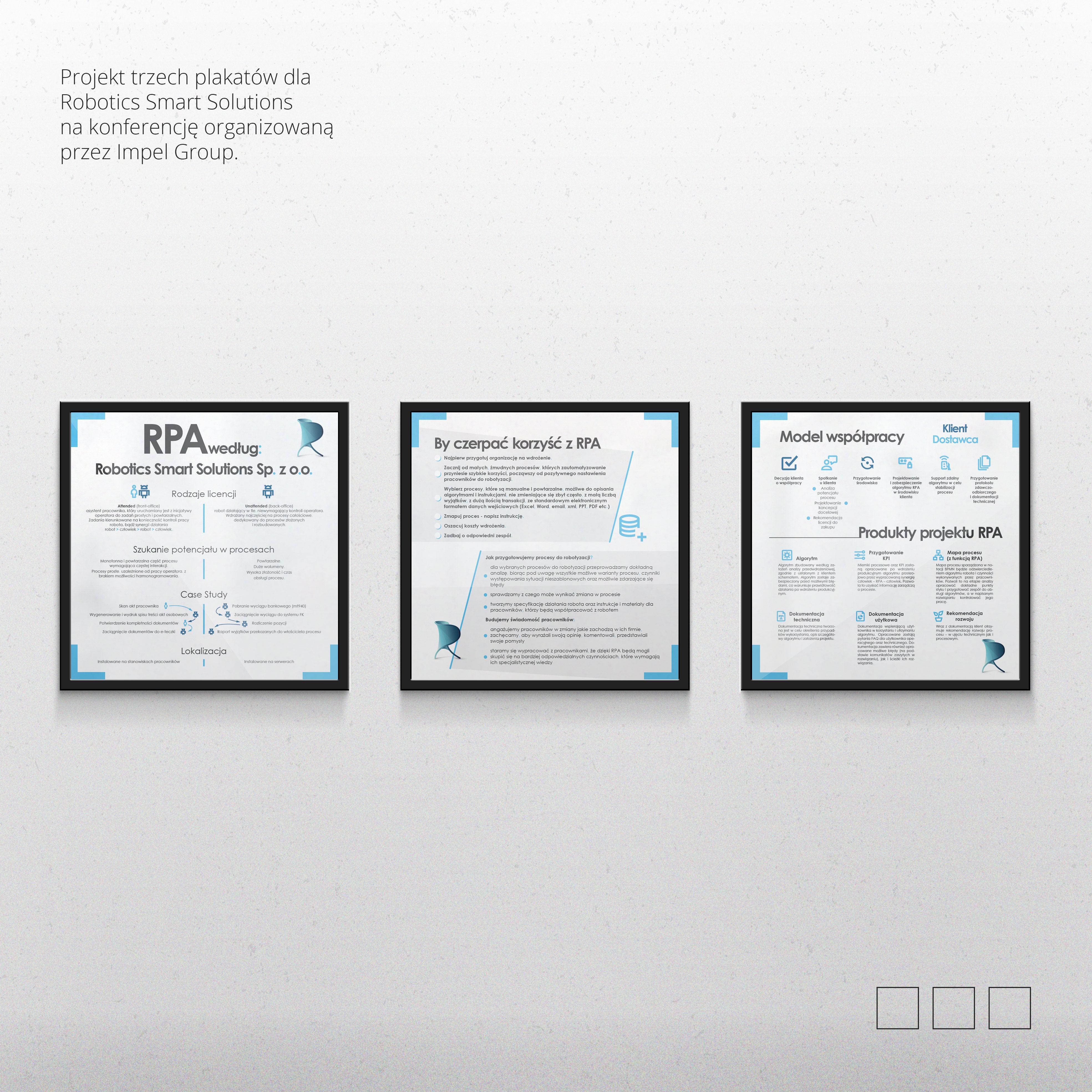Projekt plakatu Robotics Smart Solutions
