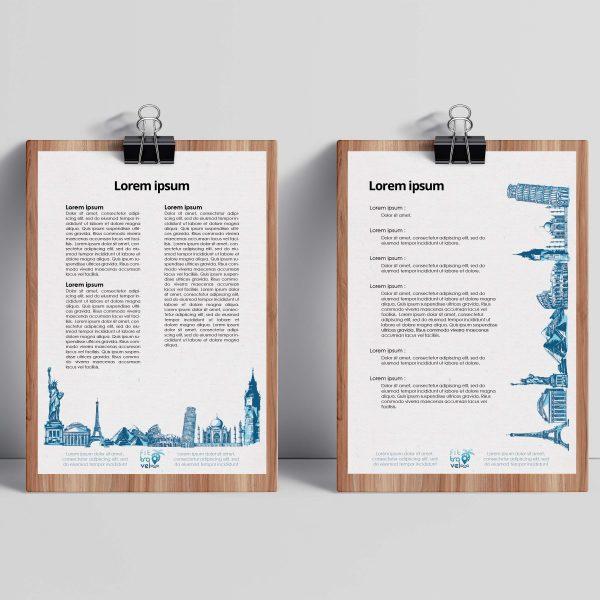 Projekt papieru firmowego Fittravel