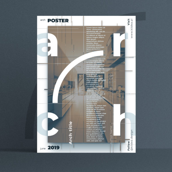 Projekt plakatu architektonicznego