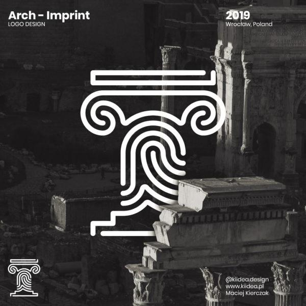 Minimalistyczny projekt logo Arch-Imprint