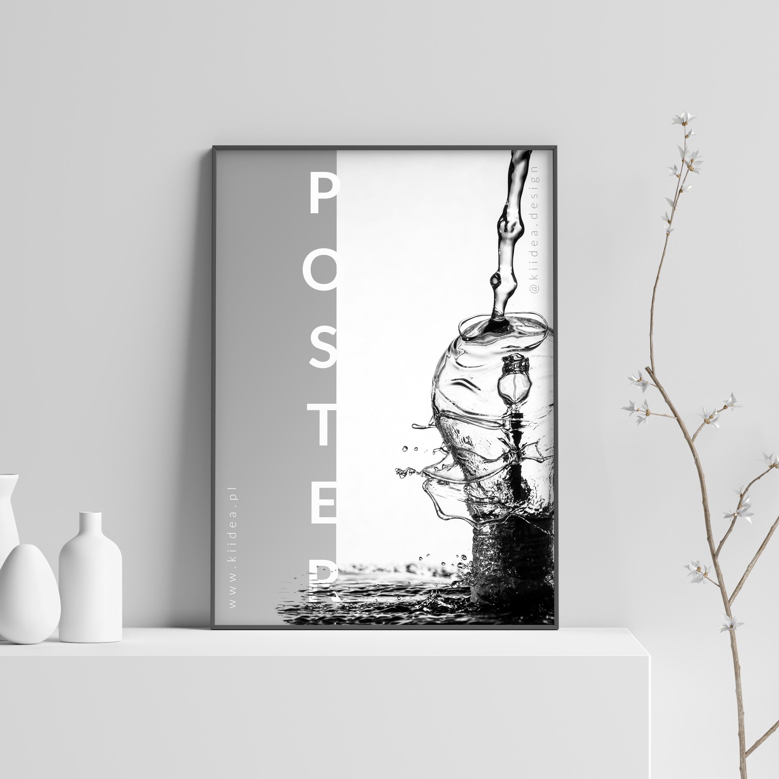 Minimalistyczny projekt plakatu