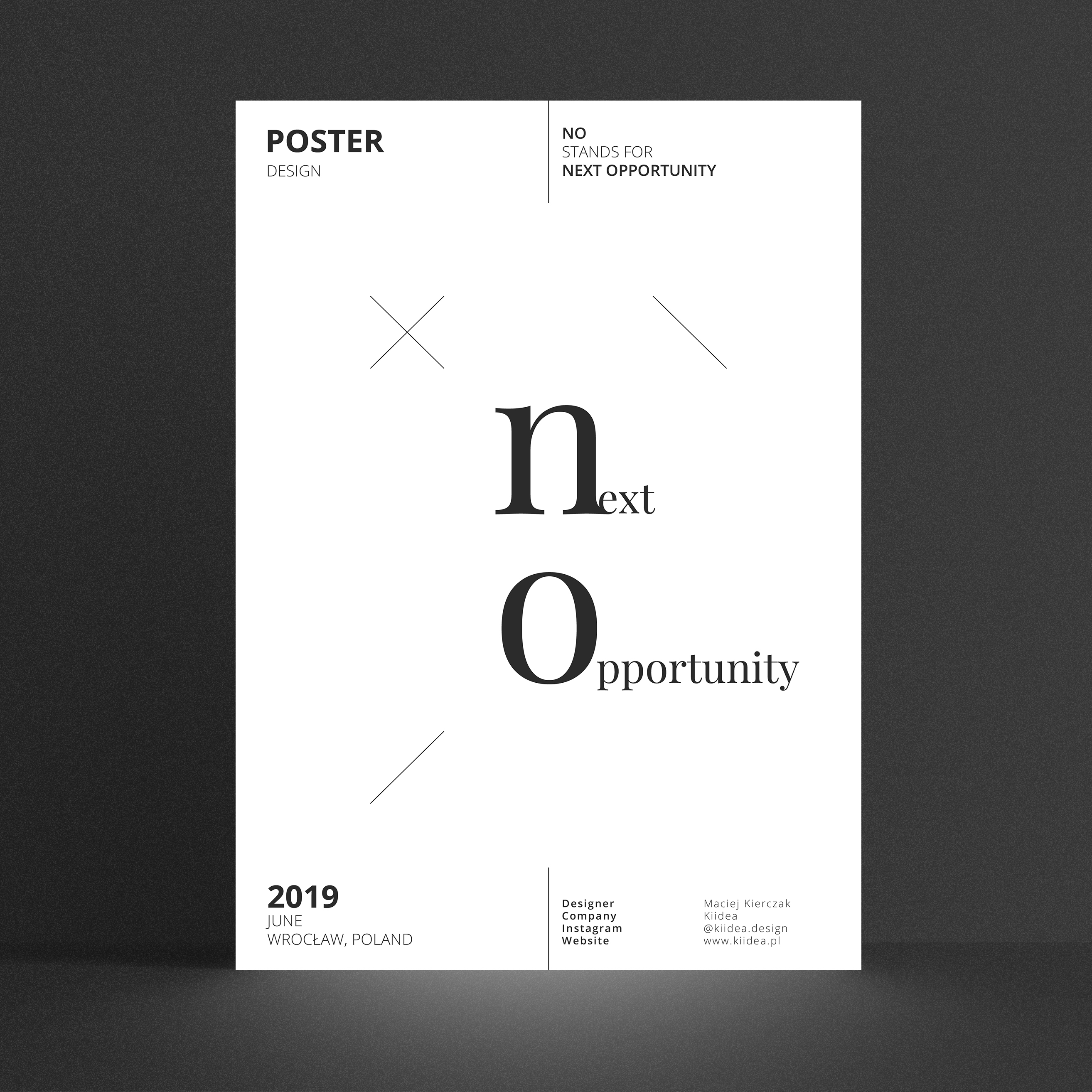 NO – next opportunity