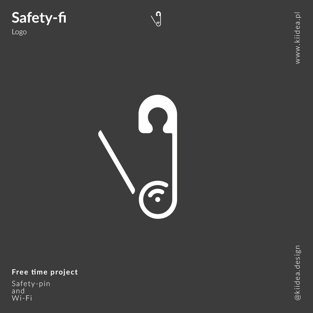 Minimalistyczne logo Safety-Fi