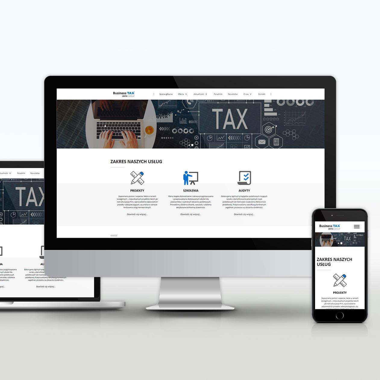 Strona www Business TAX
