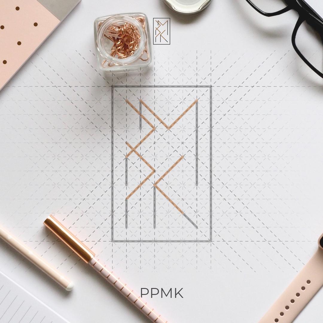 Minimalistyczne logo PPMK