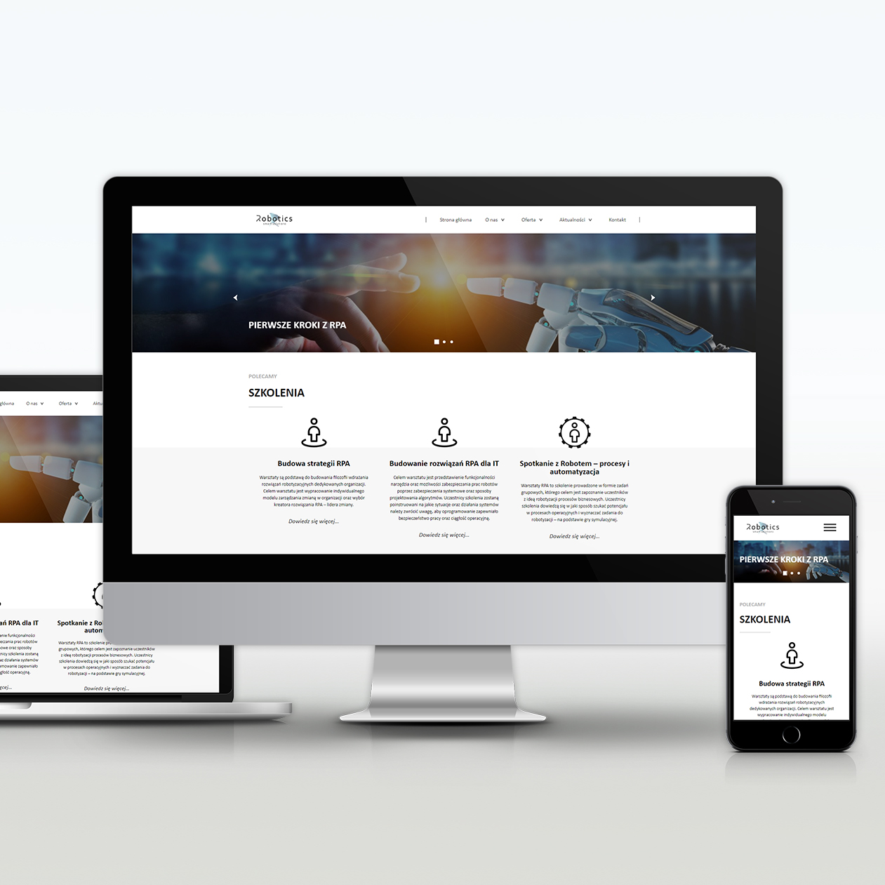 Projekt strony internetowej Robotics Smart Solutions